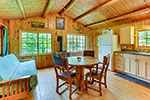 Jackpine Cabin living/dining area