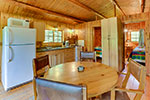 Jackpine Cabin kitchen/dining area