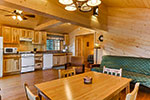 White Pine kitchen/living room area